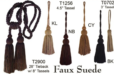 Luke Andrew Faux Suede  Collection Tassels