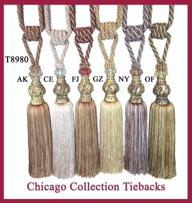 T8980 Chicago Collection Tiebacks