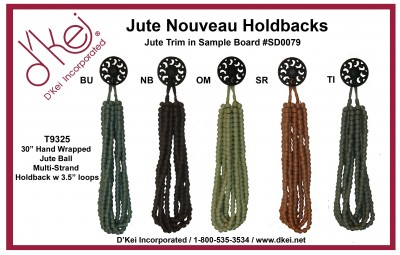 T9325 Jute Nouveau Holdbacks