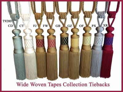 Wide Woven Tapes Tiebacks