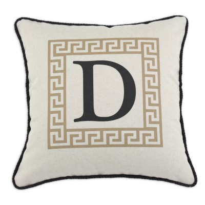 P17-LTRD-GK-81_Tan Greek Key Pillow