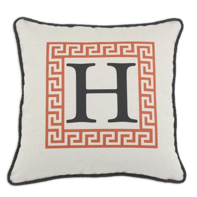 P17-LTRH-GK-97_Orange Greek Key Pillow