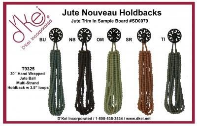 Jute Nouveau Holdbacks
